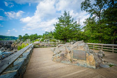 Overlook of Great Falls at Olmsted Island at Chesapeake & Ohio C stock photos