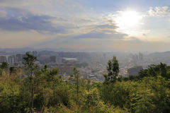 Overlook haicang district on dapingshan hill Royalty Free Stock Photography