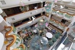 Overlook the hall of jinyan hotel Royalty Free Stock Photos