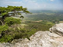 Overlook at Hanging Rock Fire Tower royalty free stock photos