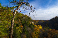 The overlook at Hocking Hills Ohio Royalty Free Stock Photos