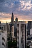 Overlook of  KLCC Tower Royalty Free Stock Images