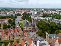 An overlook of Luebeck in Germany Stock Photos