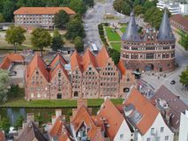 An overlook of Luebeck in Germany Royalty Free Stock Photos