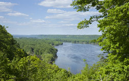 Overlook of the Mississippi River near Guttenberg, Iowa Royalty Free Stock Images