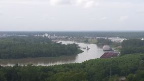 Overlook of Mississippi River from vicksburg national military park. Great view of river from civil war battle ground Stock Photography