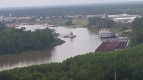 Overlook of Mississippi River from vicksburg national military park Royalty Free Stock Photos