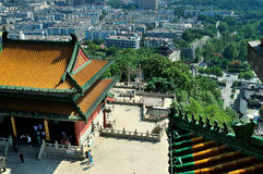 Overlook Nanjing Lion Mountain Scenic Area Royalty Free Stock Photography