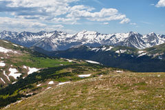 Overlook over the Rocky Mountains, Colorado Royalty Free Stock Images