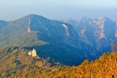 Overlook the queen mother peak from the Apsara pea Royalty Free Stock Images