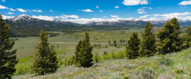 Overlook on the Sawtooth Scenic Byway, Idaho Stock Images