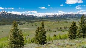Overlook on the Sawtooth Scenic Byway, Idaho Stock Photo