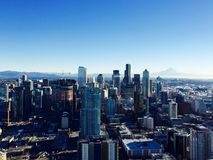 Overlook Seattle from Needle Tower. Seattle - Beautiful and Romantic Stock Image