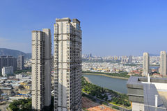 Overlook shimao hubinshoufu residential area Royalty Free Stock Photos