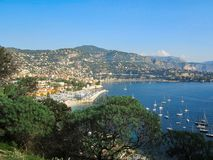 An overlook in the south of France on a beautiful fall day stock images
