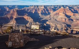 An overlook at South Rim, Grand Canyon Stock Images