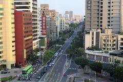 Overlook street of kaohsiung city Stock Photos