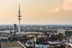 Overlook to the old town part of Hamburg, Germany Royalty Free Stock Photo