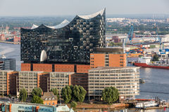 Overlook to the old town part of Hamburg, Germany Stock Photography