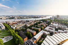 Overlook to the old town part of Hamburg, Germany royalty free stock images