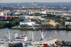 Overlook to the old town part of Hamburg, Germany Royalty Free Stock Photos