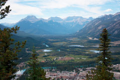 Overlook on Tunnel Mountain Hike Banff Canada Royalty Free Stock Image