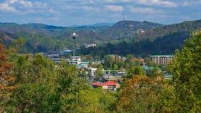 Overlook View of Gatlinburg royalty free stock photos