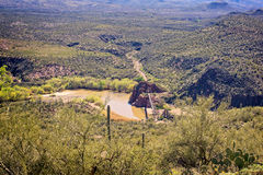 An overlook view of the Old Verde River Sheep Bridge Royalty Free Stock Photography