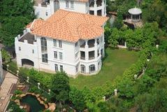 Overlook the villa. Overlook the luxury villa from the tall building Stock Photography