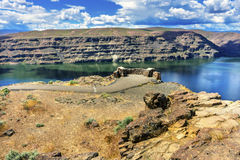 Overlook Wanapum Lake Colombia River Wild Horses Monument Washin Royalty Free Stock Image