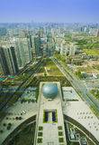 Overlook xian city shanxi china Stock Image