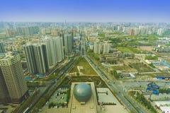 Overlook xian city shanxi china Royalty Free Stock Photo