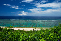 The Overlook of YOSHINO Coast, Okinawa Prefecture/Japan Royalty Free Stock Images