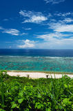 The Overlook of YOSHINO Coast, Okinawa Prefecture/Japan Royalty Free Stock Image