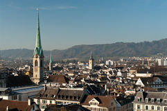 An overlook of Zurich Royalty Free Stock Photos