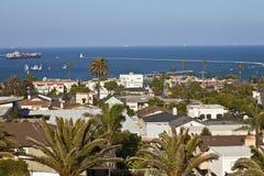Overlookin de la vecindad de San Pedro el Océano Pacífico. Foto de archivo