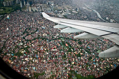 Outsider prevented plane window Stock Images