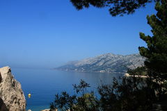 Overlooking the Adriatic Sea,Brela. Near the Makarska Stock Photo