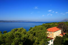 Overlooking the Adriatic Sea , Croatia moments. Overlooking the Adriatic Sea , lovely Croatia moments Royalty Free Stock Photography