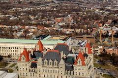 Overlooking Albany's State Capitol Building,seen from the 39th floor of Corning Tower,Albany,2016 Royalty Free Stock Image