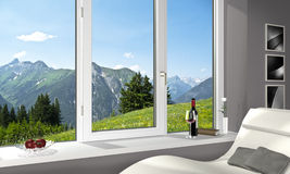 Overlooking the alps Royalty Free Stock Photo