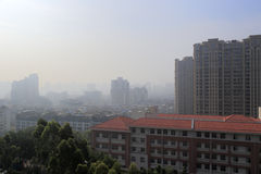Overlooking amoy city. From xianyue hill,  china Royalty Free Stock Photos