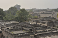 Overlooking the ancient city of pingyao Royalty Free Stock Photos