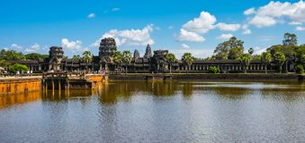 Overlooking Angkor Wat Royalty Free Stock Image