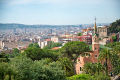 Overlooking the area of Parc Guell, Barcelona Royalty Free Stock Photo
