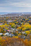 Overlooking Autumn Landscape from Niagara Escarpment, Ontario Stock Photo