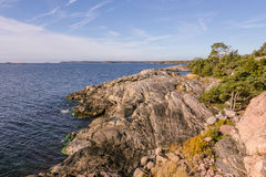 Overlooking the Baltic sea n Sweden Stock Image
