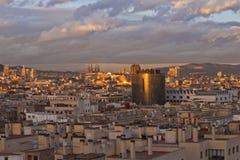 Overlooking Barcelona Royalty Free Stock Photos