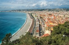 Overlooking the bay of Nice Stock Image