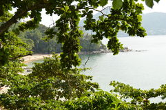 Overlooking the beach Laem Sing.Thailand. Phuket Island. Royalty Free Stock Photo